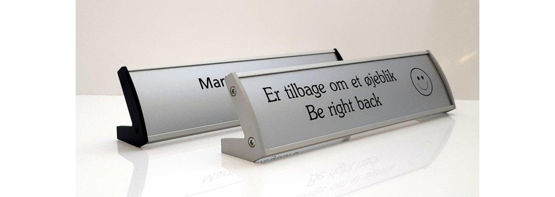 Aluminium bordskilte i elegant design