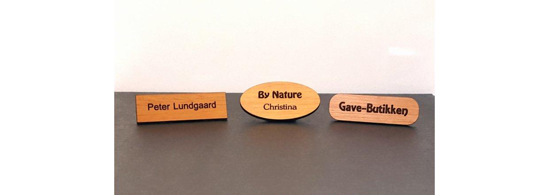Eksklusive Navne og Reversskilte i træ