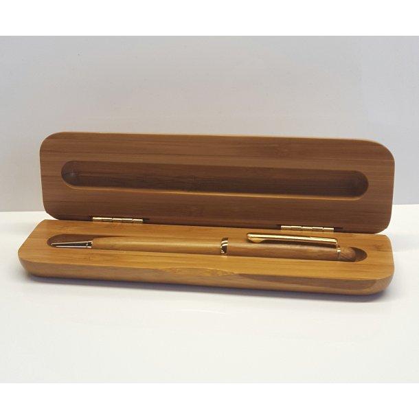 Kuglepen sæt i ægte bambus