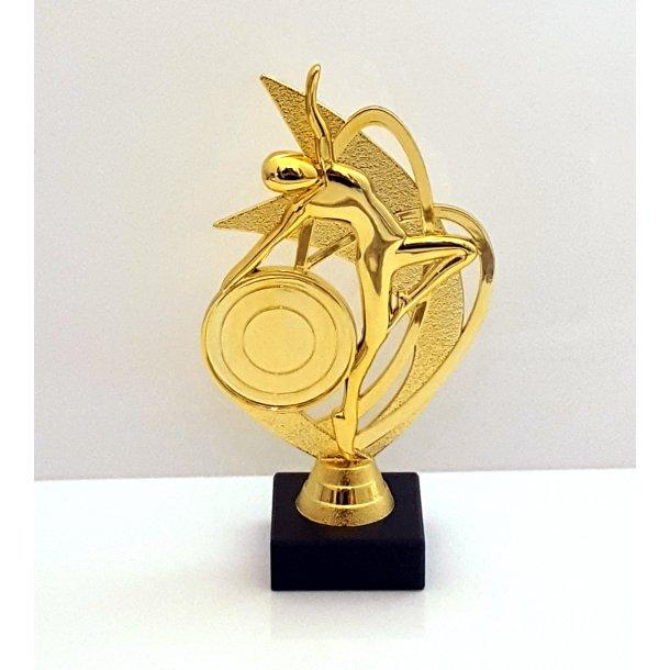 Danse og gymnastik pokal i guld farve