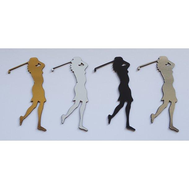 Golf dame i 4 varianter