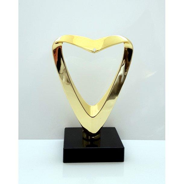Guld Hjerte Statuette