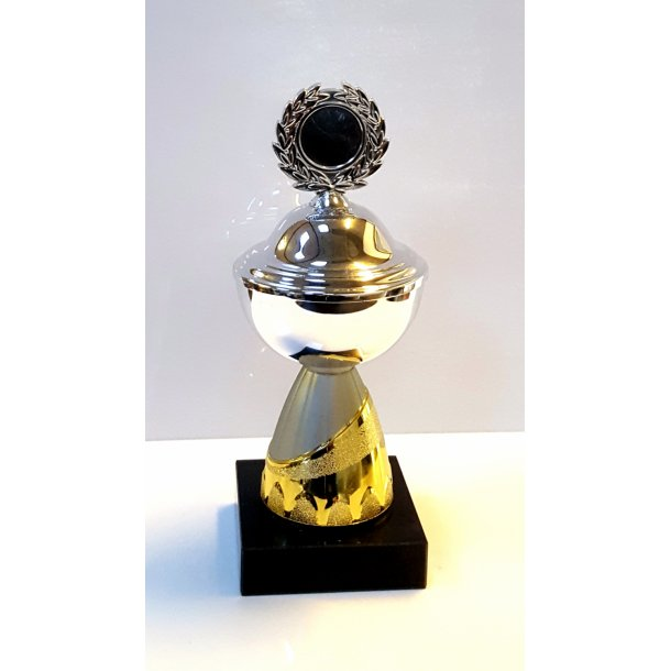 Pokal sølv med guld/mat sølv fod - 20 cm