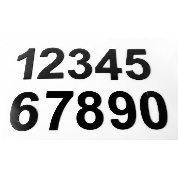 Husnummer Blank Sort