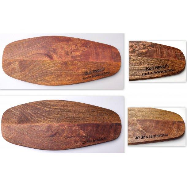 Tapas bræt i mangotræ 55 x 22 cm