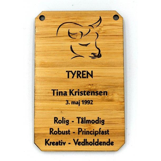 Horoskop træ skilt Tyren