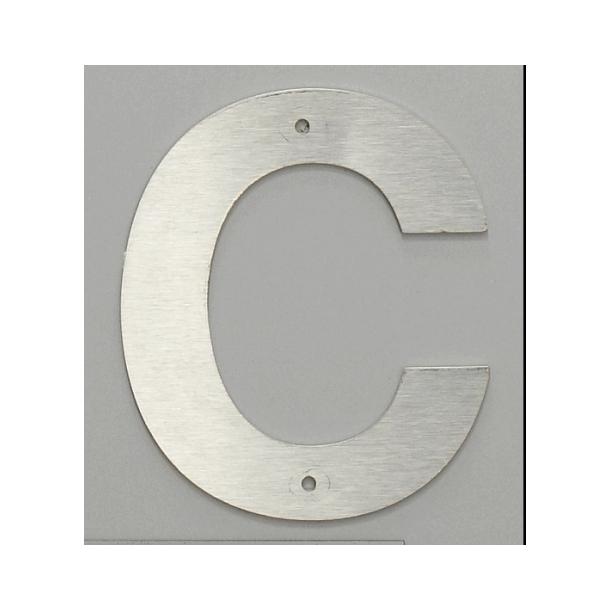 Bogstav Husnummer i Rustfrit stål 14 cm
